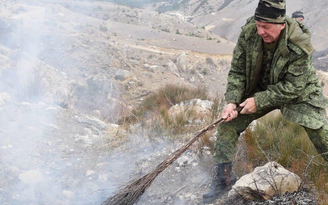 Совместные учения по тушению лесного пожара